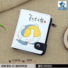 Nyanko Sensei PU Wallet w-Button&Interior Zipper Pocket/Natsume Yuujinchou Purse