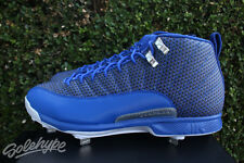 NIKE AIR JORDAN 12 XII RETRO METAL CLEATS SZ 11 ROYAL BLUE SILVER 854567 400