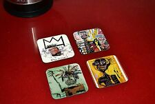 Jean Michel Basquiat Contemporary Art Wooden Coaster Set