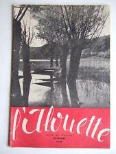L'ALOUETTE NOVEMBRE 1946 JOURNAL DES ECLAIREUSES FFE SCOUTISME BADEN-POWELL