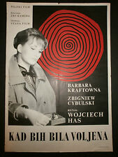 HOW TO BE LOVED aka JAK BYC KOCHANA 1963  Barbara Kraftowna YUGO MOVIE POSTER