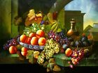 Canvas Print Oil painting Picture Still Life Fruits on canvas L094