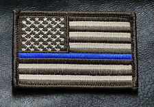 SWAT Police law enforcement Thin Blue Line United States Flag HOOK Patch