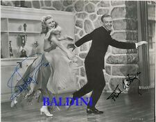 FRED ASTAIRE & GINGER ROGERS RARE SIGNED AUTOGRAPH 10X8 PHOTO, GREAT COLLECTABLE