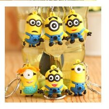Despicable Me Minions 3D Key Charms with Metal Key Rings UK SELLER