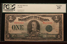 "1923C $1 Lg. Size PCGS 25 Very Fine ""Dominion of Canada"" DC-25j NICE"
