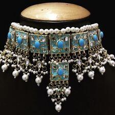 Traditional Kundan Bridal Wedding Choker Style Necklace Latest Jewelry dadavbvwa