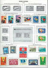 United Nations lot (63) of postage stamps from 1951-1962 uncancelled