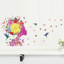 Flying Butterfly Flower Birds Girl Room Decor Art Removable Wall Sticker Decal