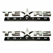 (TWO) 3D TEXAS EDITION EMBLEM CHEVY SILVERADO GMC SIERRA TRUCK UNIVERSAL DECAL.