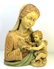 Vintage Virgin Mary Madonna and Child Religious Statue Figurine Signed P.A.T.
