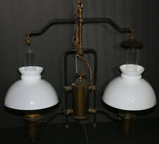RARE&UNUSUAL Victorian antique hanging ceiling lamp/light oil or gas brass eagle