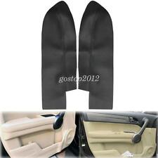 Pair Leather Front Door Panels Armrest Cover For  Honda CR-V CRV 2007-2012 Black