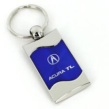 Acura TL Blue Spun Brushed Metal Key Ring