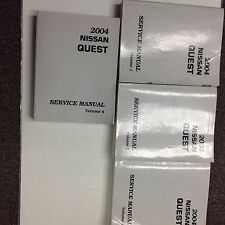 2004 Nissan Quest Van Service Shop Repair Workshop Manual Set OEM 2004