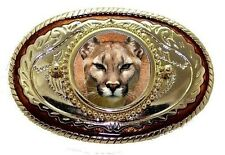 Cougar Puma Mountain Lion Panther  Belt Buckle USA Made