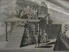 C1740 antiguos impresión ~ sacrificio de captura ritual inca mayas