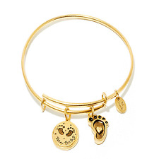 Chrysalis Friends & Family New Baby Bangle in 14 kt Gold Plate, CRBT0714GPSML