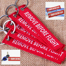5pcs Red Remove Before Flight Pilot Luggage Aviation Label Tag Key Chain Pendant