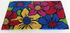 "Morning Glory Floral Pattern Out Door Multi - Color Coir mat 18"" x 30"""