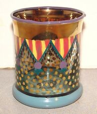Mackenzie Childs Glass Circus Pennants Old Fashioned Tumbler