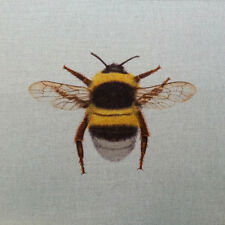 TEX EX ORIGINAL BRITISH FLORA & FAUNA BUMBLEBEE BEE INSECT CUSHION PANEL LINEN