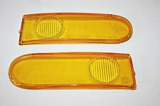 FOR PORSCHE 993 SET R + L YELLOW FOG LIGHT LENSES BRAND NEW HELLA