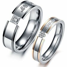 GirlZ!  Couple matching Shiny Wedding Rings (For his & her