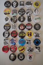 Punk Rock Buttons Pins Classic 80s 90s Music 1.25 Inch Size Lot of 38 (LB1)