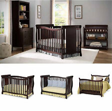 Convertible Baby Crib  Infant Girl Boy Cot Toddler Nursery Full Bed Furniture