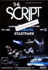 SCRIPT, THE - 2015 - Konzertplakat - No Sound without - Tourposter - Hamburg