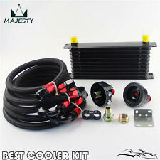 10 Row AN10 Trust Oil Cooler Filter Relocation Kit For Toyota Suzuki Subaru WRX
