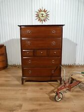 Fantastic Stag mahogany tall boy chest of seven drawers