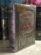THE VAMPIRE CHRONICLES by ANNE RICE- LEATHERBOUND & BRAND NEW IN SHRINK WRAP!