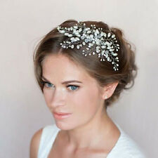 Crystal Pearl Hair Accessory Wedding Bride Hair Comb Handmade Hair Jewelry