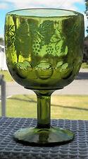 """VINTAGE BARTLETT COLLINS GOLDEN GRAPE GREEN GOBLETS 6 1/8"""" GREEN GRAPES & LEAVES"""