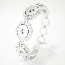 """Three Snap Adjustable Bracelet For Snap It Button Charms  """"We Combine Shipping"""""""