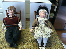 16 inch Grandma and Grandpa doll in rocking chairs dolls old man woman figures