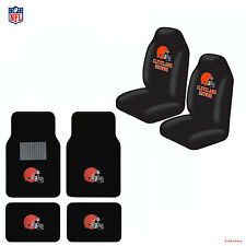 New NFL Cleveland Browns Car Truck  Seat Covers & Carpet Floor Mats Set