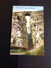 T1-9 Postcard Unused Bridge Over Quarry Middlepeak