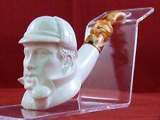 SMS Meerschaum Sherlock Holmes Pipe!  Erdogan Ege!  Carved in Turkey!