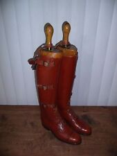 Vintage 1930's Military Cavalry Riding Boots by Dehner With Trees And Spurs WW2
