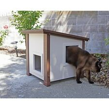 Cat Houses For Outdoor Cats Winter Furniture Bedding Feral Crate Shelter Stray