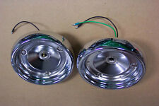 1955 Ford Tail Light Chrome Housings NEW Pair Show Condition 55