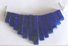 13 piece, lapis lazuli, tapered pendant set, for jewellery making crafts