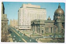 DORCHESTER ST. LOOKING EAST MONTREAL QUEBEC CANADA VINTAGE POSTCARD #P2507