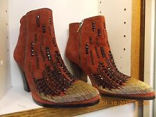 Donald J Pliner boots leather hand embossed