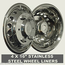 "EUROLINERS STYLE 16"" MERCEDES SPRINTER 2006  WHEEL TRIMS SETOF 4 STAINLESS STEEL"