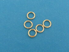 14k Solid Yellow Gold 4mm Round CLOSED JUMP RING Findings - 5 Rings - New