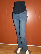 Duo Maternity Women's Roll Panel Cotton Blend Blue Jeans Size Small NWT